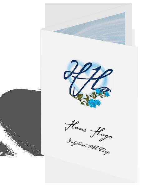 Inbjudningskort till dop (dopkort)